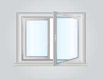 Plastic window Stock Photo