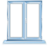 Plastic window. Template model with clipping path included, vector illustration vector illustration