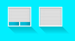 Plastic window with blinds Royalty Free Stock Photo