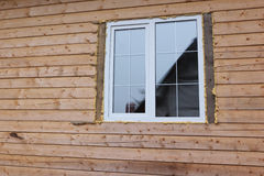 Plastic window in the house Royalty Free Stock Photo