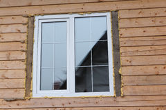 Plastic window in the house Royalty Free Stock Image