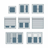 Plastic window. With jalousies vector illustration stock illustration