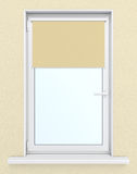 Plastic window with roller blind royalty free illustration