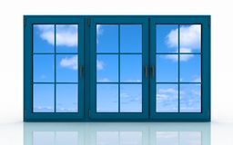 Plastic window with the sky Royalty Free Stock Photos