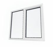 Plastic window. On a white background Royalty Free Stock Photo