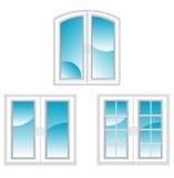 Plastic windows stock illustration