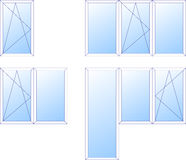 Plastic windows for apartments and for balcony Royalty Free Stock Image