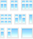 Plastic windows in color Stock Photos