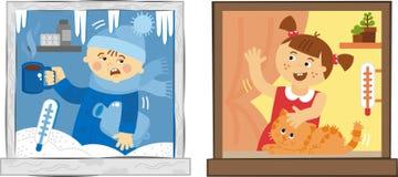 Plastic windows Stock Image
