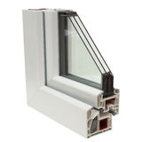 Plastic windows profiles Royalty Free Stock Photos