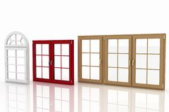 Plastic windows on white Royalty Free Stock Image