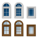 Plastic windows white brown Stock Image