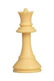 Plastic witte geïsoleerdee schaakkoningin Stock Afbeelding