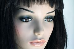 Plastic Woman. Beautiful face of the plastic woman Royalty Free Stock Image