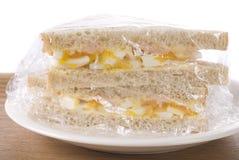 Plastic Wrapped Sandwich Stock Photos