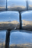 Plastic wrapped straw bales Royalty Free Stock Photography