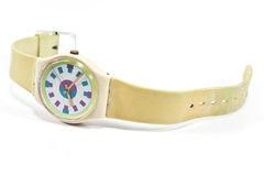 Plastic wrist watch Royalty Free Stock Photography