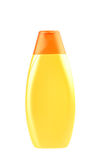 Plastic yellow bottle. Royalty Free Stock Photo