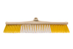 Broom without stick yellow plastic  Stock Photo