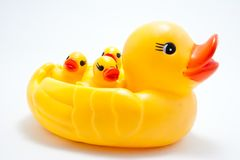 Plastic yellow duck toy Royalty Free Stock Images