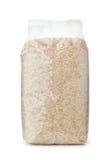 Plastic zak droge lange rijst stock foto