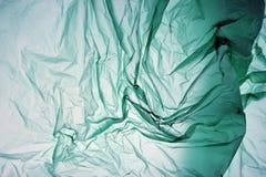 Plastic Zak Het polyethyleen kan als achtergrond gebruiken Malplaatje voor kaart, affiche, bannerontwerp Groene Achtergrond Ruimt royalty-vrije stock afbeelding