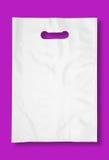 Plastic zak op fuchsia. Royalty-vrije Stock Foto's