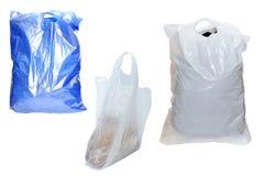 Plastic zakken Stock Foto's
