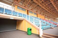 Plastic zetels bij stadion Royalty-vrije Stock Foto