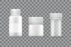 Plastic Zilveren die Flessendekking voor Vloeistoffen wordt ontworpen vector illustratie