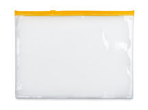 Plastic zipper bag Stock Image