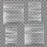 Plastic zipper bag vector template Stock Photos