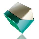 Plastica del cubo Immagini Stock
