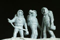 Plastica del giocattolo degli astronauti Fotografia Stock