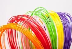 Plastica di ADS per la stampante 3D, immagine stock