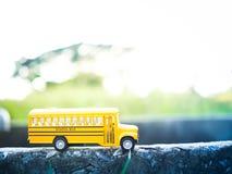 Plastica gialla dello scuolabus Fotografia Stock Libera da Diritti