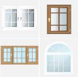 Plastica Glosed di Windows di vettore Fotografie Stock Libere da Diritti