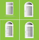 Plastica Glosed di Windows di vettore Fotografia Stock