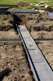Plastica moderna del letto di verdure del giardino della costruzione Fotografia Stock