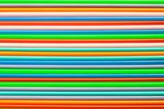 Plastica variopinta usata come fondo Fotografia Stock
