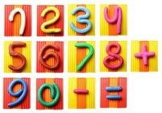 plasticine αριθμών Στοκ εικόνα με δικαίωμα ελεύθερης χρήσης