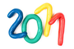 Plasticine 2011 new year Stock Images