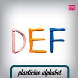 Plasticine alphabet on a background. Stock Image