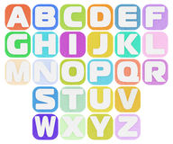 Plasticine alphabet Royalty Free Stock Photos