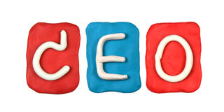 plasticine alphabet form word CEO Stock Photos