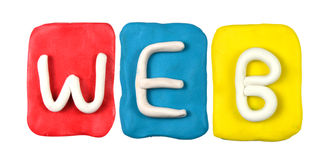 Plasticine alphabet form word WEB Stock Image