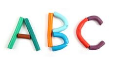 Plasticine alphabet Stock Images