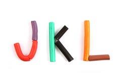 Plasticine alphabet Royalty Free Stock Image