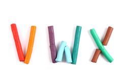 Plasticine alphabet Stock Photo
