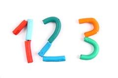 Plasticine alphabet Stock Image